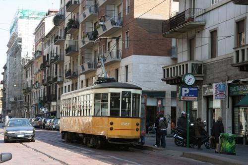 Un des plus vieux tram de Milan