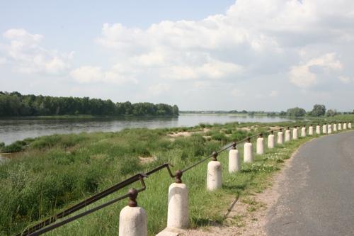 """La Loire prise du """"port"""" de St Benoit sur loire"""