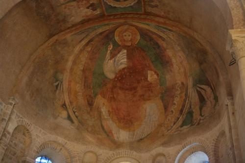Fresque du 12ème siècle qui décore l'abside romane