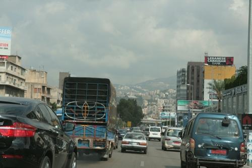Nous quittons Beyrouth par l'autoroute