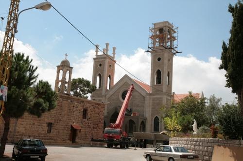 Cathédrale maronite en construction