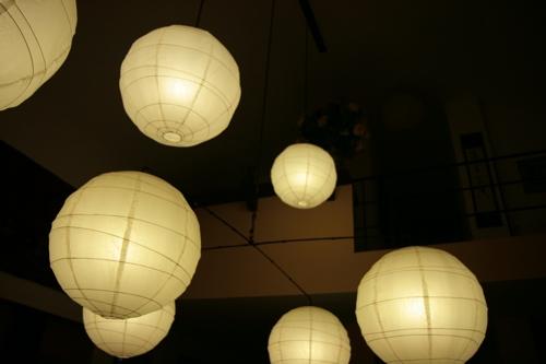 L'éclairage de la grande salle