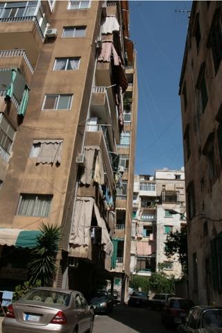 Vers le sud le quartier de Mazraa