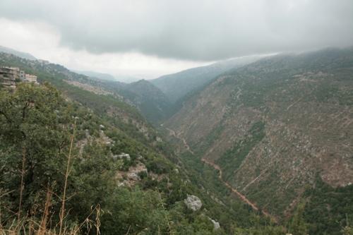 Une des vallées qui descendent à la mer (vers Beyrouth)