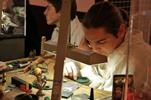 Les élèves du lycée de St Amand, pour les métiers de la bijouterie et la joaillerie sont toujours aussi passionnés.