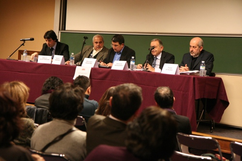 de gauche à droite, Albert Kostanian, Kamal Hamdan, Georges Sassine, Antoine Messarra et Tala Atrissi