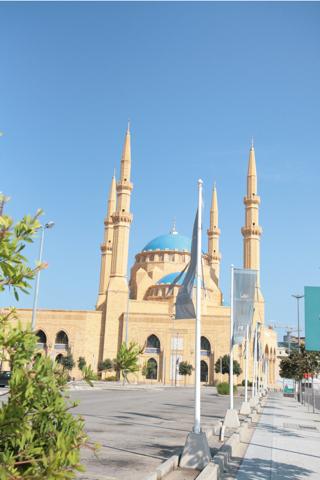 La mosquée M El Amine, construite par Rafic Hariri en 2003 à Beyrouth.