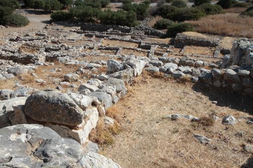 Site minoen de Gournia, une petite ville au bord de la mer.