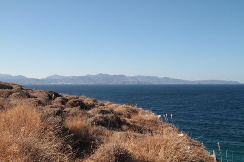 La baie de Mirabello (au fond Agios Nikolaos)