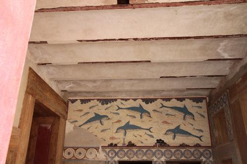 Cnossos, appartements de la reine, le Bain des dauphins.