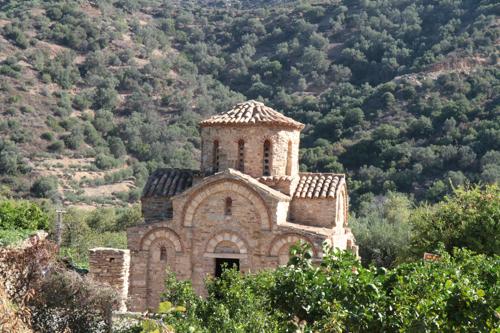 Panagia de Lumbinies, à Fodèle, la première petite église byzantine que nous avons visitée, à l'ouest d'Héraklion.