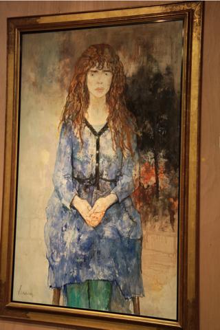 """""""Jeune fille à la robe bleu"""" Jean Jansem, un artiste d'origine arménienne né en 1930 en Turquie. Il expose dans le monde entier (Arménie, USA, Liban, Afrique du Sud, Corée)."""