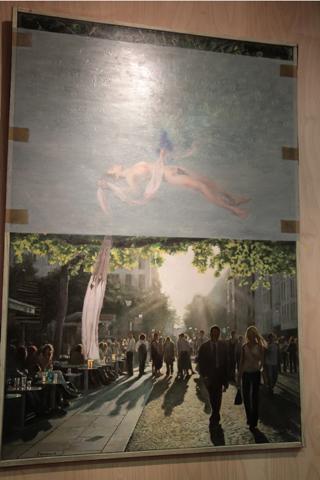 Tranche de vie de Pascal Dabere, comment la peinture peut mieux que la photo, donne une autre dimension à une scène de rue ou le ciel et la terre...
