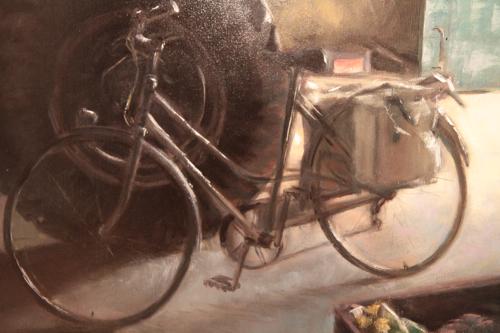 """Détail de """"La bicyclette"""" de Pascal Dabere... mon vélo en toute beauté"""