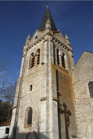 Clocher de l'Eglise de La Chapelle St Mesmin près d'Orléans