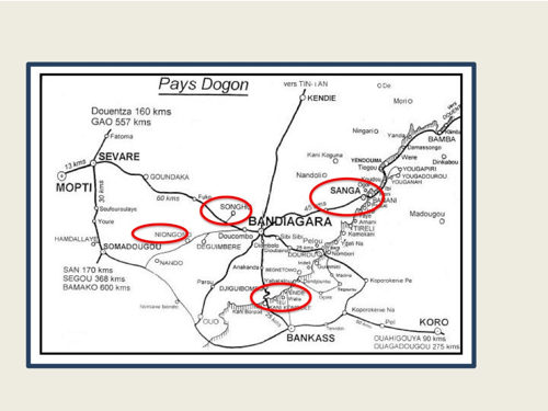 Les différents villages que nous avons visités
