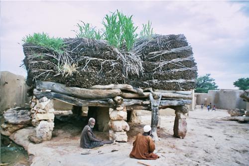Un toguna, lieu des palabres pour le village