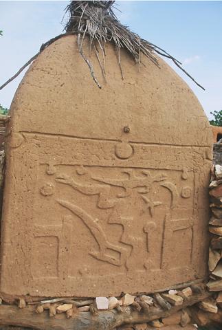 Détail sur un grenier, fermé probablement par une porte traditionnelle
