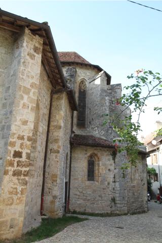 Le chevet de l'église abbassiale