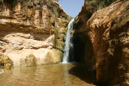 Et dans l'oasis, les merveilles cascades de l'eau qui descend des montagnes.