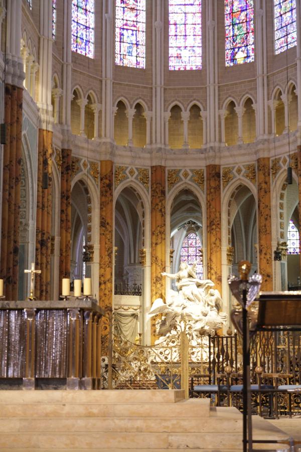 Quelle découverte ! le  Coeur vient de retrouver ses couleurs telles que les a admiré St Louis au XIII siècle