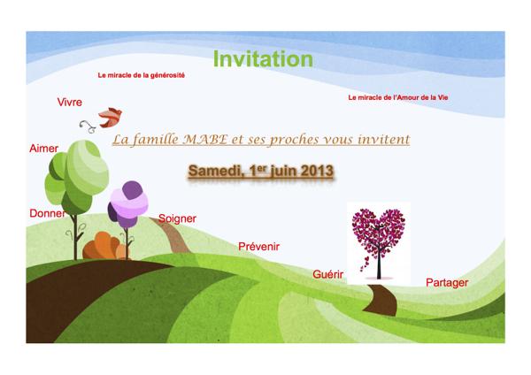 Première page de l'invitation