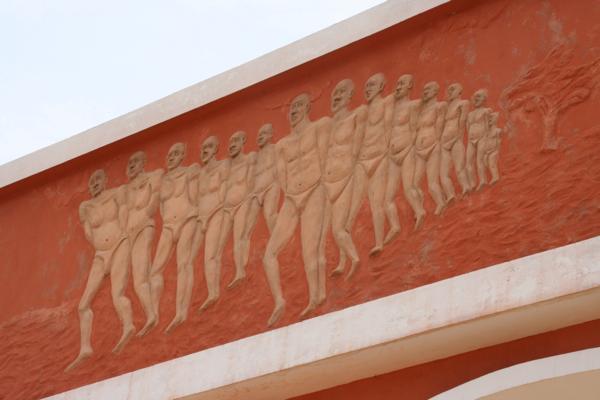 Détail du monument érigé en 2000.