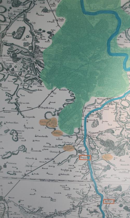 Situation des carrières en activité au sud de la forêt de Fontainebleau