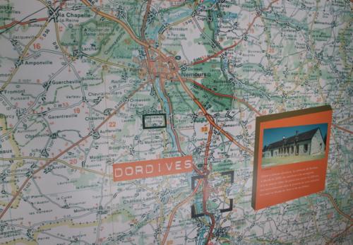 Situation géographique de Dordives et de Bagneaux