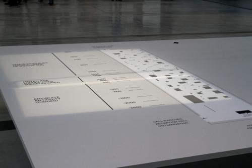 """Une signalétique originale permet de parcourir """"la galerie du temps"""", espace unique pour exposer les œuvres des civilisations et des cultures différentes."""