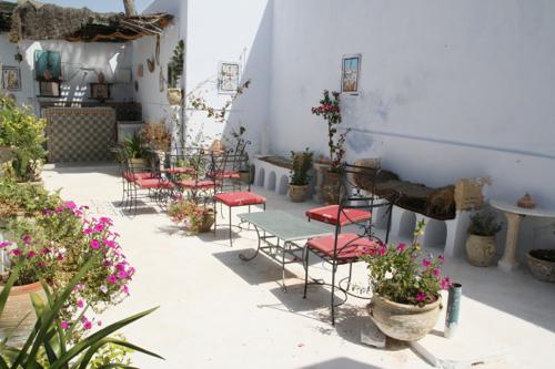 Chaque terrasse est joliment fleurie