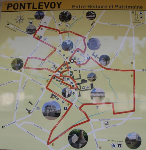 Plan du parcours touristique de Pontlevoy