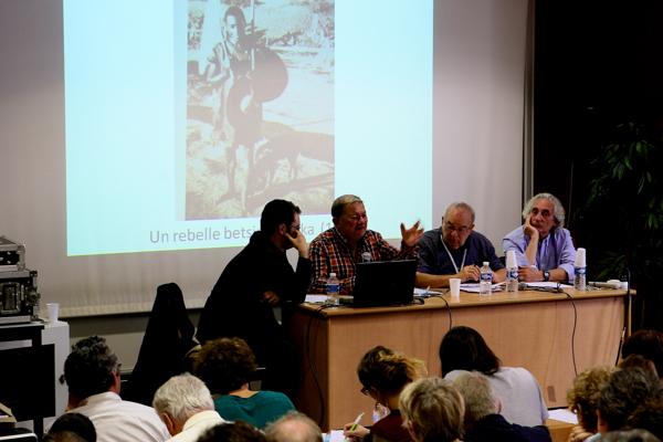 """Table ronde """"Rebelles africains"""" avec les historiens  JP Bat, P.Boilley, JP Chrétien, Jean Fremigacci"""