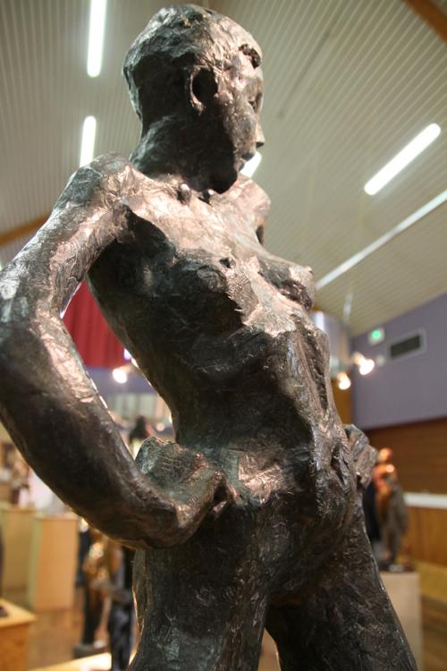 Détail de Carmen, bronze de Danièle Dekeyser