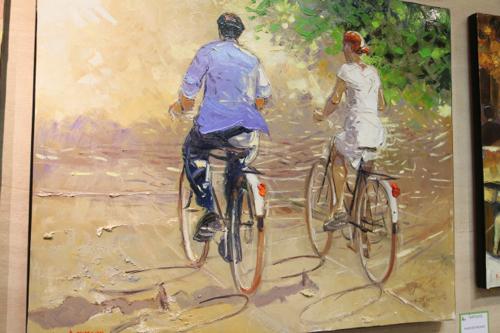 Détail de Promenade à bicyclette de André Deymonaz