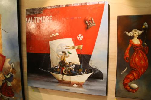Détail de Baltimore acrylique sur toile de Catherine Chauloux