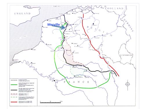 Carte de la région en 14-18