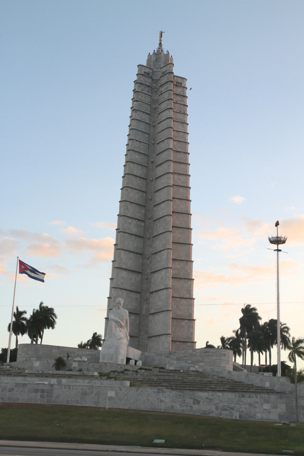Monument à José Marti, place de la Révolution à La Havane, construit en 1958 pour le centenaire de la naissance du héros national,Hauteur 139m .