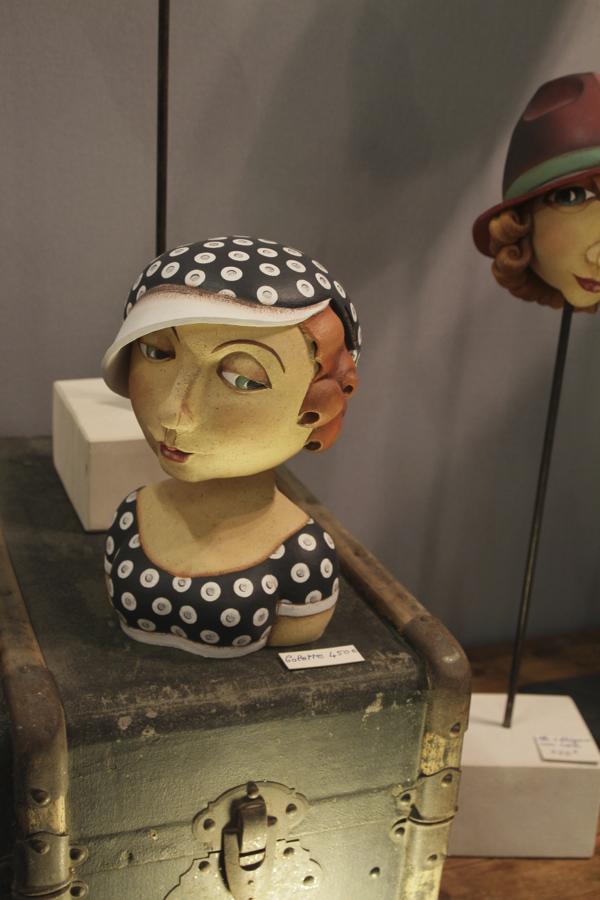 Colette chez Sandra Grimaud, sculpteur céramiste