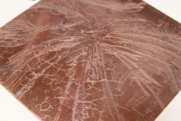 Une des plaques de cuivres gravées...