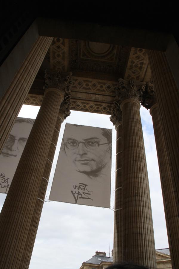 Jean Zay au fronton du Panthéon