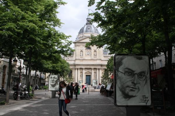 Jean Zay devant la Sorbonne ....