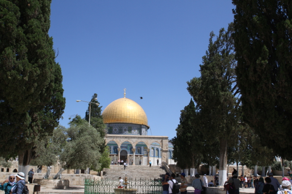 L'esplanade des Mosquées et le Dôme du Rocher majestueux.