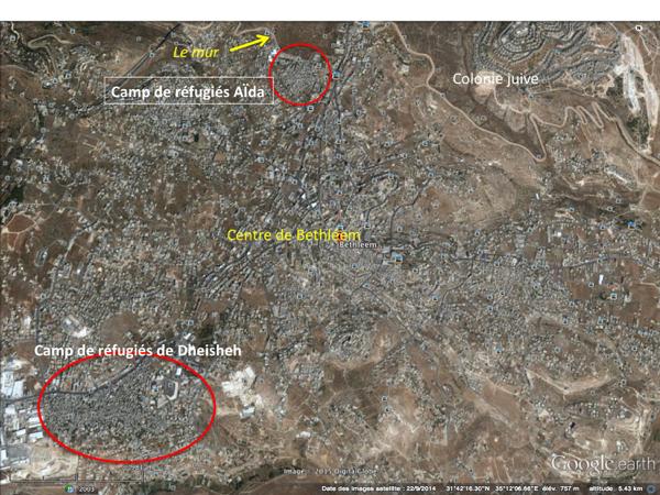Carte Google Earth de Bethléem