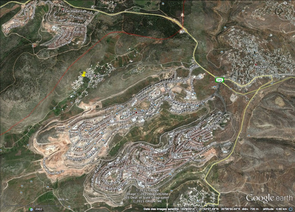 Carte Google Earth de la région