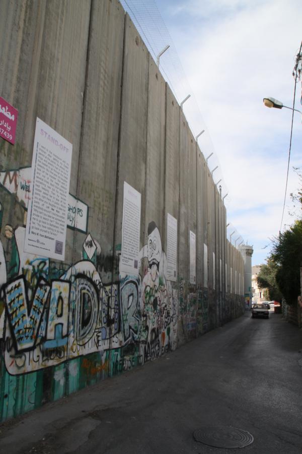 Le mur à Bethléem