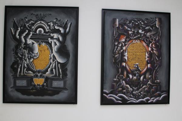Peinnture de Jean Michel Ouvry, le coordonnateur de l'exposition