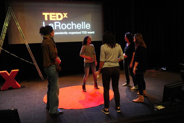 Préparation sur scène (photo Martin Charpentier)