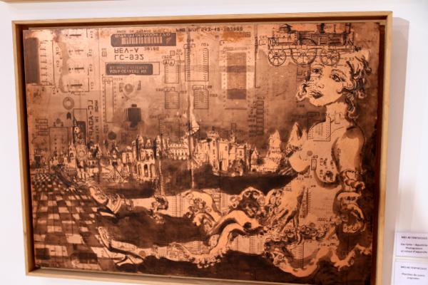 """Planche de cuivre originale """"Mes 40 tentacules"""" de Charlotte Massip"""