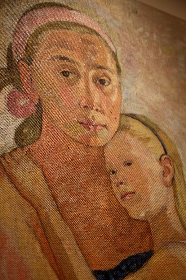 Autoportrait avec la fille, hommage à El de Tatiana Kozlova (détail)